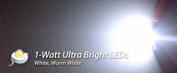 All New 1-watt High Power Ultra Bright LEDs.